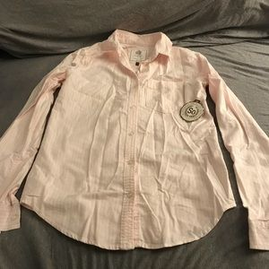 Light pink and white striped Oxford